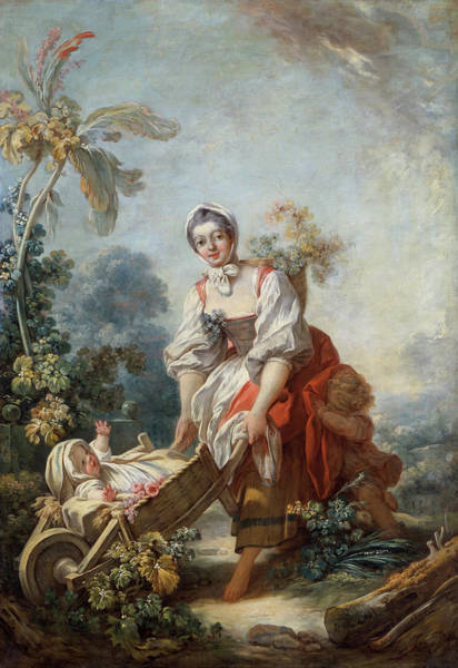Wall Art - Painting - The Joys Of Motherhood by Jean-Honore Fragonard