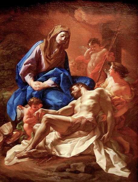 Painting - The Lamentation  by Corrado Giaquinto
