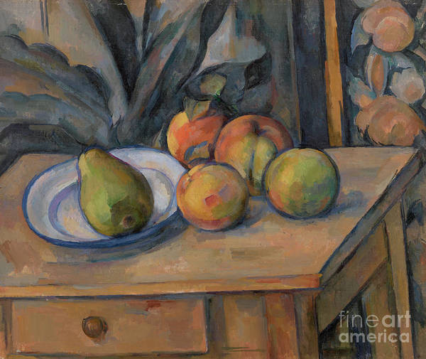 Wall Art - Painting - The Large Pear by Paul Cezanne