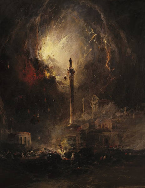 Wall Art - Painting - The Last Days Of Pompeii by MotionAge Designs