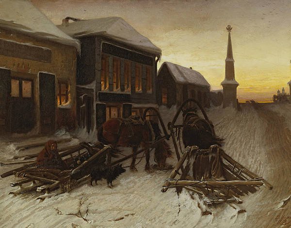 Painting - The Last Tavern At The City Gates by Vasily Perov