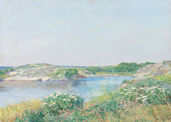 Wall Art - Painting - The Little Pond, Appledore by Childe Hassam