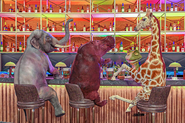 Fun House Digital Art - The Locals by Betsy Knapp
