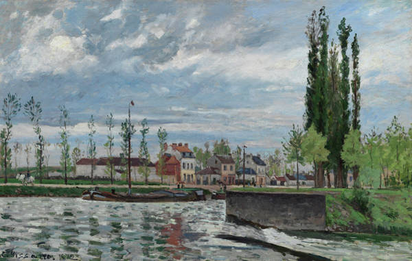 Wall Art - Painting - The Lock At Pontoise, 1872 by Camille Pissarro
