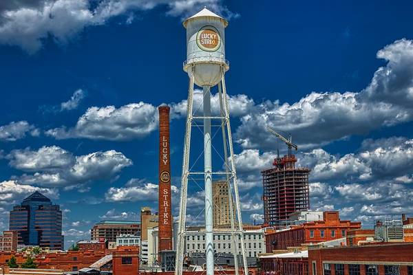 Wall Art - Photograph - The Lucky Strike Cigarette Tower - Durham, North Carolina by Mountain Dreams