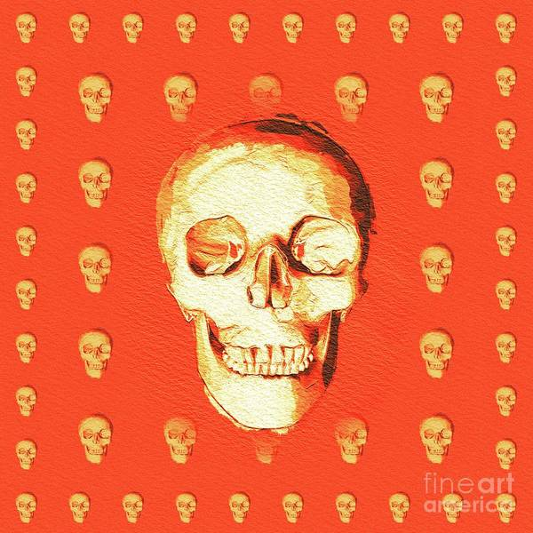 Wall Art - Painting - The Magic Skull by Pierre Blanchard