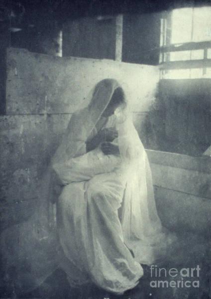 Photograph - The Manger by Gertrude Kasebier
