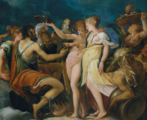 Painting - The Marriage Of Cupid And Psyche by Andrea Schiavone
