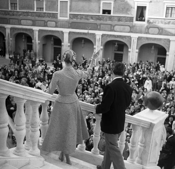 Princess Grace Photograph - The Marriage Of Prince Rainier Of by Keystone-france