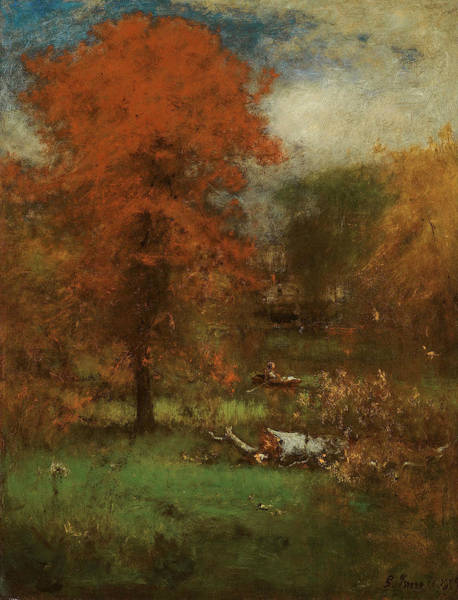 Wall Art - Painting - The Mill Pond by George Inness