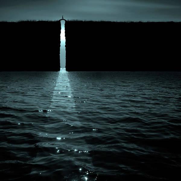 Digital Art - The Moon Pours In by Marc Ward