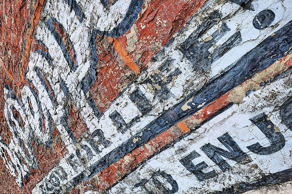 Photograph - The Old Dr Pepper Wall by JC Findley