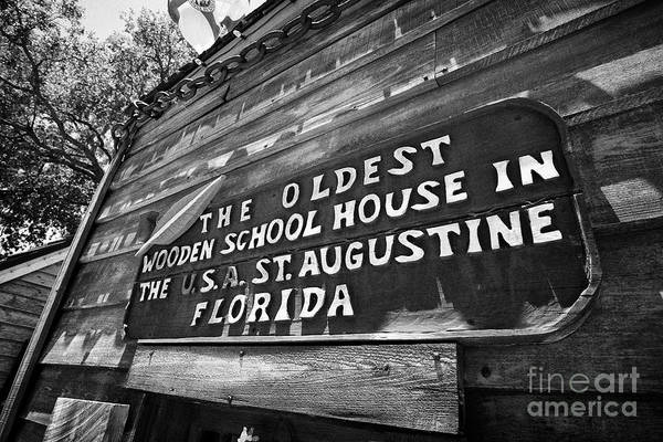 Wall Art - Photograph - The Oldest Wooden Schoolhouse In The Usa St Augustine Florida Us Usa by Joe Fox