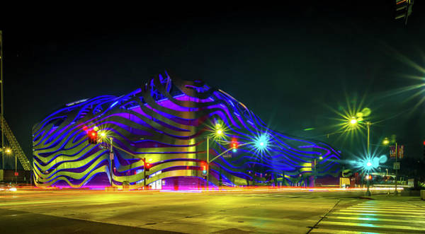 Photograph - The Petersen Automotive Museum In Los Angeles by Alex Grichenko