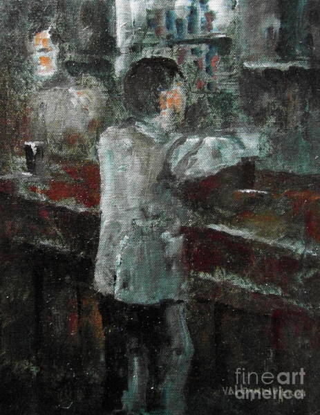 Painting - The Pint Man by Val Byrne