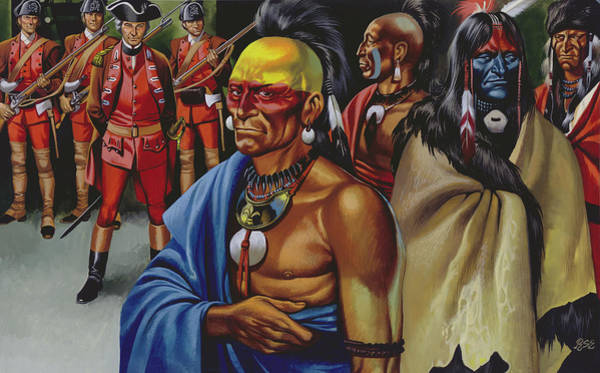 Native American Blanket Painting - The Pontiac Conspiracy by Ron Embleton
