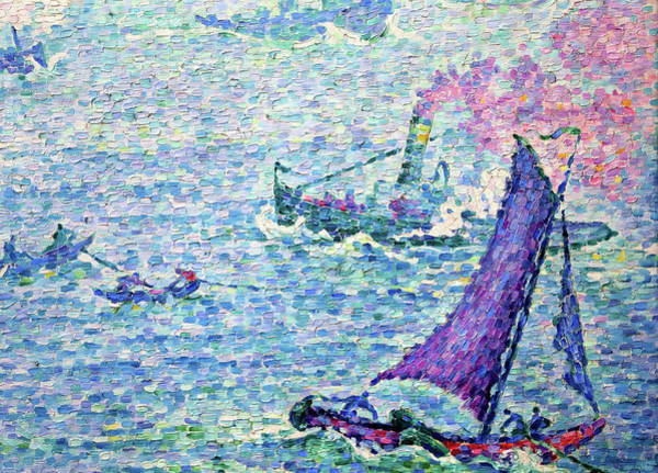 Neo-impressionism Wall Art - Painting - The Port Of Rotterdam - Digital Remastered Edition by Paul Signac