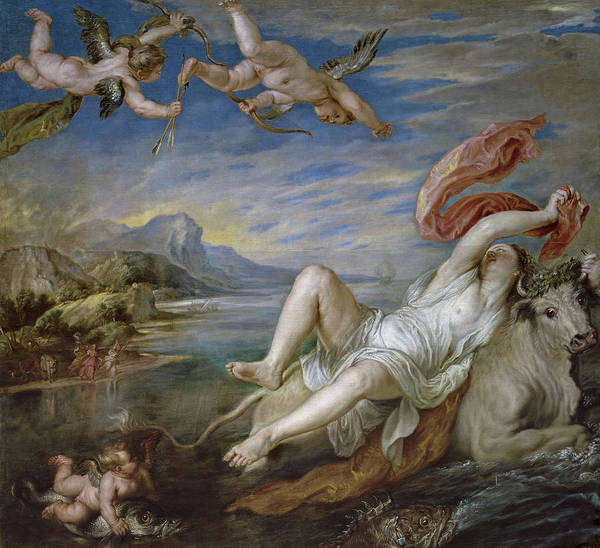 Wall Art - Painting - The Rape Of Europa - Copy Of Titian by Peter Paul Rubens