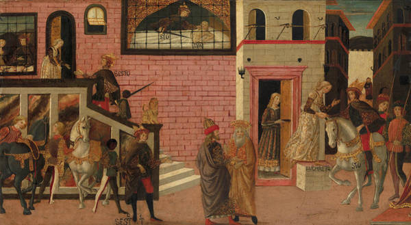 Painting - The Rape Of Lucretia by Master of Marradi
