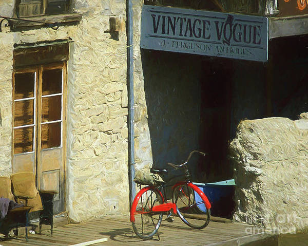 Photograph - The Red Bicycle by Darrel Giesbrecht