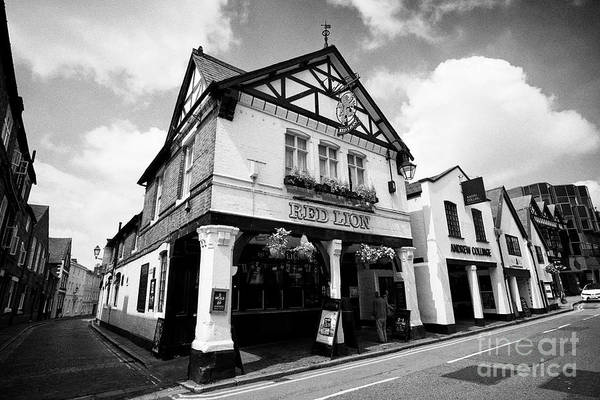 Wall Art - Photograph - The Red Lion Pub On Northgate Street Chester Cheshire England Uk by Joe Fox