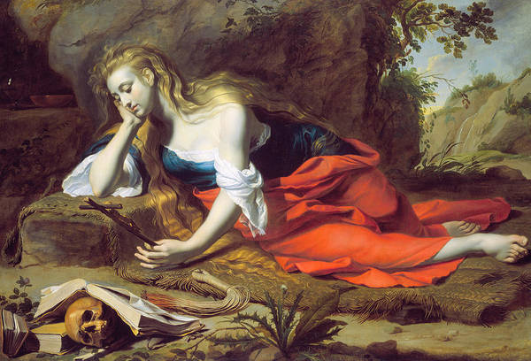 Painting - The Repentant Magdalen by Gerard Seghers