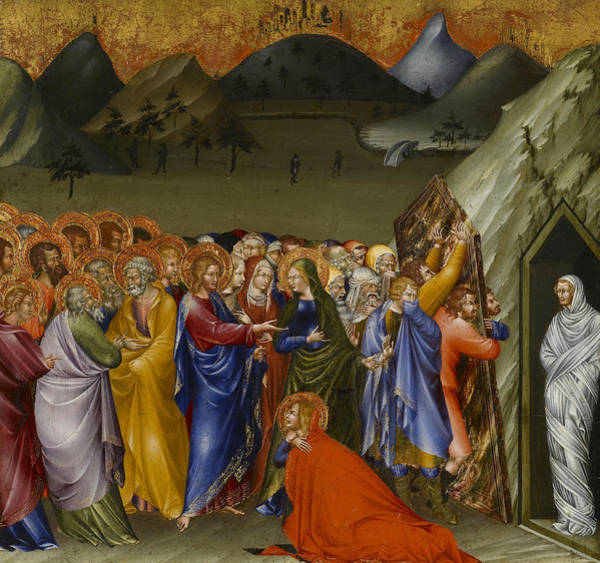 Painting - The Resurrection Of Lazarus by Giovanni di Paolo