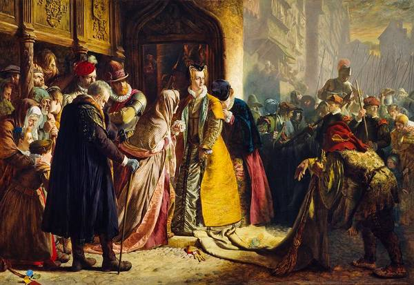 Wall Art - Painting - The Return Of Mary Queen Of Scots To Edinburgh by James Drummond