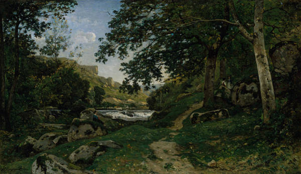 Painting - The Rocky Path In The Morvan by Henri Harpignies