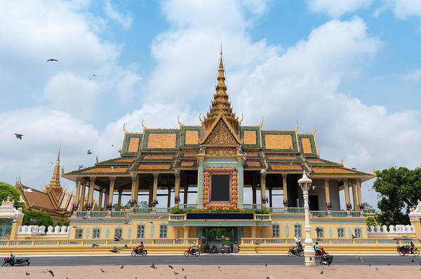 Phnom Penh Photograph - The Royal Palace And Silver Pagoda In by Tbradford