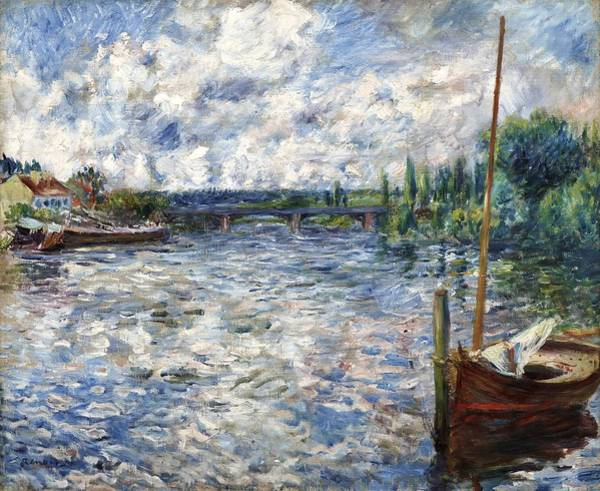 Wall Art - Painting - The Seine At Chatou by Pierre-Auguste Renoir