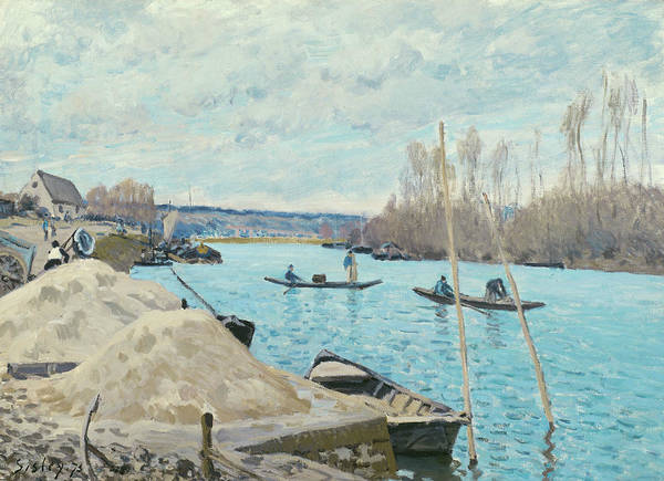 Wall Art - Painting - The Seine At Port-marly, Piles Of Sand by Alfred Sisley