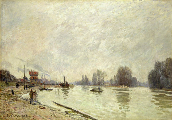 Wall Art - Painting - The Seine At Suresnes, 1880 by Alfred Sisley