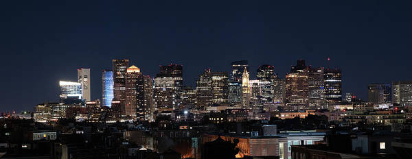 Photograph - The Skyline Of Boston In Massachusetts, Usa On A Clear Winter Ev by Kyle Lee