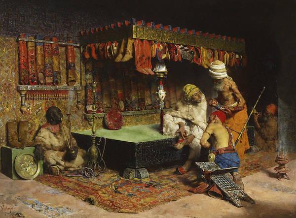 Wall Art - Painting - The Slipper Merchant by Jose Villegas Cordero