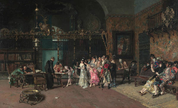 Painting - The Spanish Wedding by Maria Fortuny