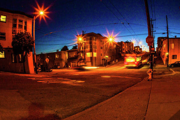 Wall Art - Photograph - The Streets Of The Outer Richmond In San Francisco By Night, Moo by Kim Vermaat