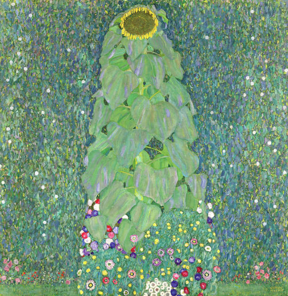 Wall Art - Painting - The Sunflower, 1907  by Gustav Klimt