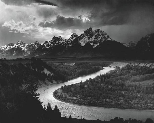 Wall Art - Photograph - The Tetons And The Snake River 1942 by Ansel Adams