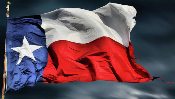 Flying The Flag Wall Art - Photograph - The Texas Flag by JC Findley
