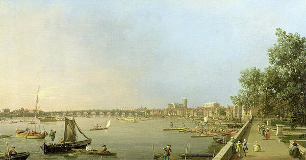 Wall Art - Painting - The Thames From The Terrace Of Somerset House by Canaletto