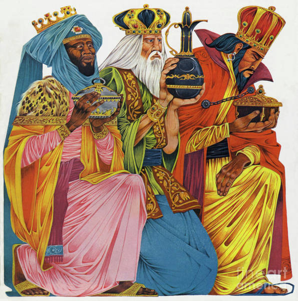 Wall Art - Painting - The Three Kings by Richard Hook