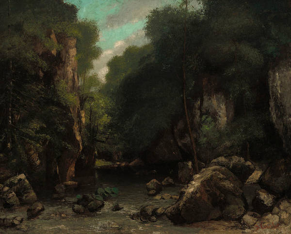 Wall Art - Painting - The Valley Of Les Puits-noir by Gustave Courbet