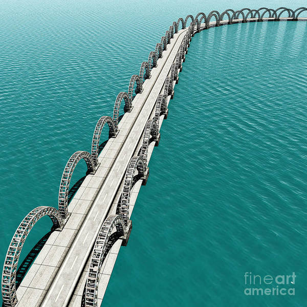 Wall Art - Digital Art - The View Of Old Bridge For Adv Or by Nh