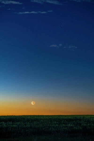 Wall Art - Photograph - The Waning Crescent Moon Rising by Alan Dyer