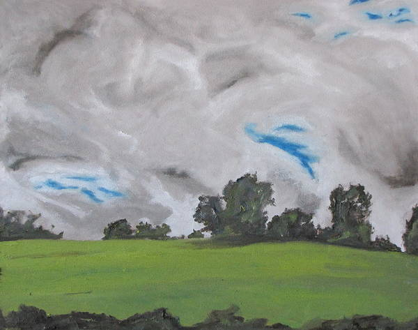 Wall Art - Painting - The White And Grey Clouds Quebec Canada by Francois Fournier