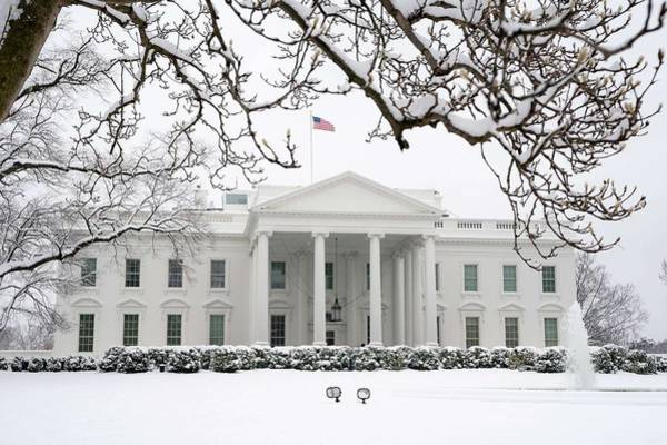 Wall Art - Painting - The White House Grounds Covered In Snow 16 by Celestial Images