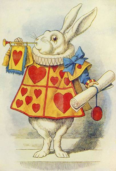 Wall Art - Painting - The White Rabbit  Illustration From  Alice In Wonderland  By Lewis Carroll  by John Tenniel
