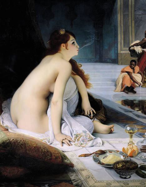 Sauna Wall Art - Painting - The White Slave by Jean Jules Antoine Lecomte du Nouy