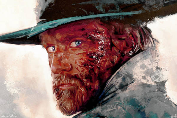 Pokes Wall Art - Painting - The Wounded Cowboy by Joseph Oland